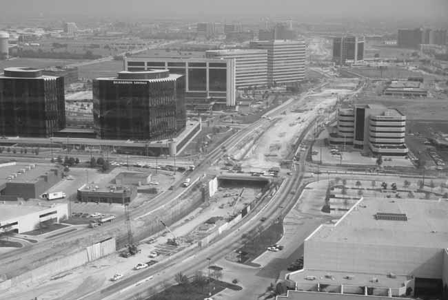 Dallas North Tollway Construction In Addison