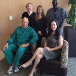 (Seated, From Left to Right) Dr. Joseph Williams, Medical Director; Tricia Muse, MBA, Program Director; standing – Janna Seddon, RN Clinical Nurse Manager, Amanda Heddin, Front Office Coordinator; Jamaar Wright, HBO Safety Director. Photo Courtesy Methodist Hospital for Surgery.