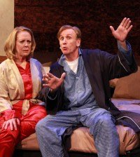 Wendy Welch and Bob Hess in WaterTower Theatre's Sexy Laundry. Photo by Kelsey Leigh Ervi