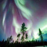 Follow the aurora borealis through Alaska.