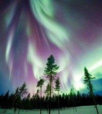 Follow the aurora borealis through Alaska.