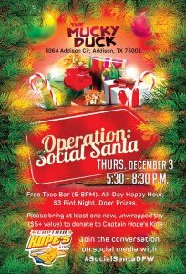 Operation: Social Santa @ The Mucky Duck | Addison | Texas | United States