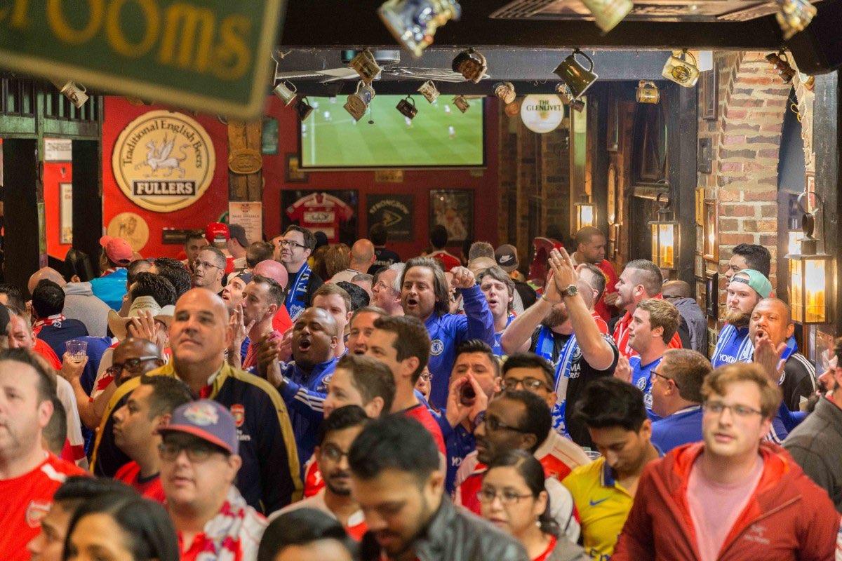Image result for diehard soccer fans american pub